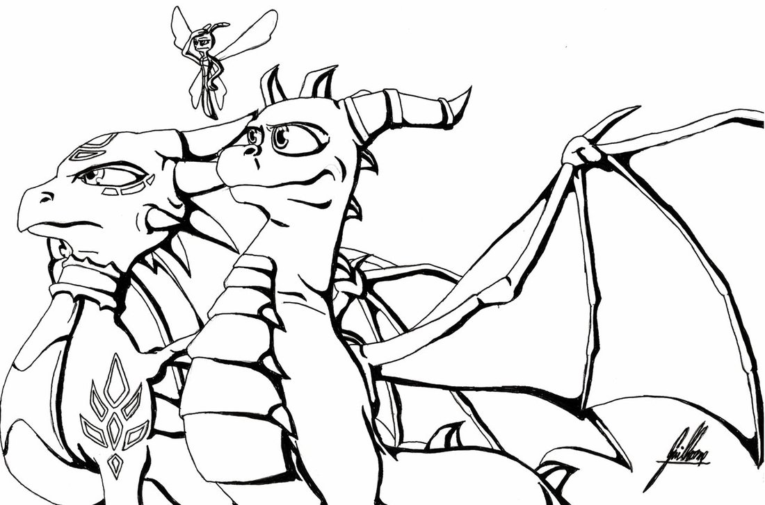 Spyro Drawing at GetDrawings.com | Free for personal use Spyro ...
