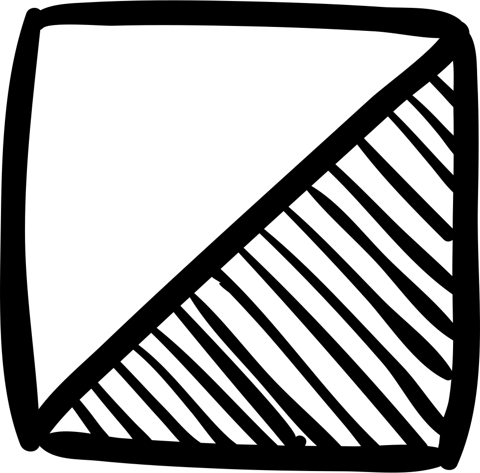 980x966 Square Sketch Of Two Triangles Svg Png Icon Free Download ( 55034