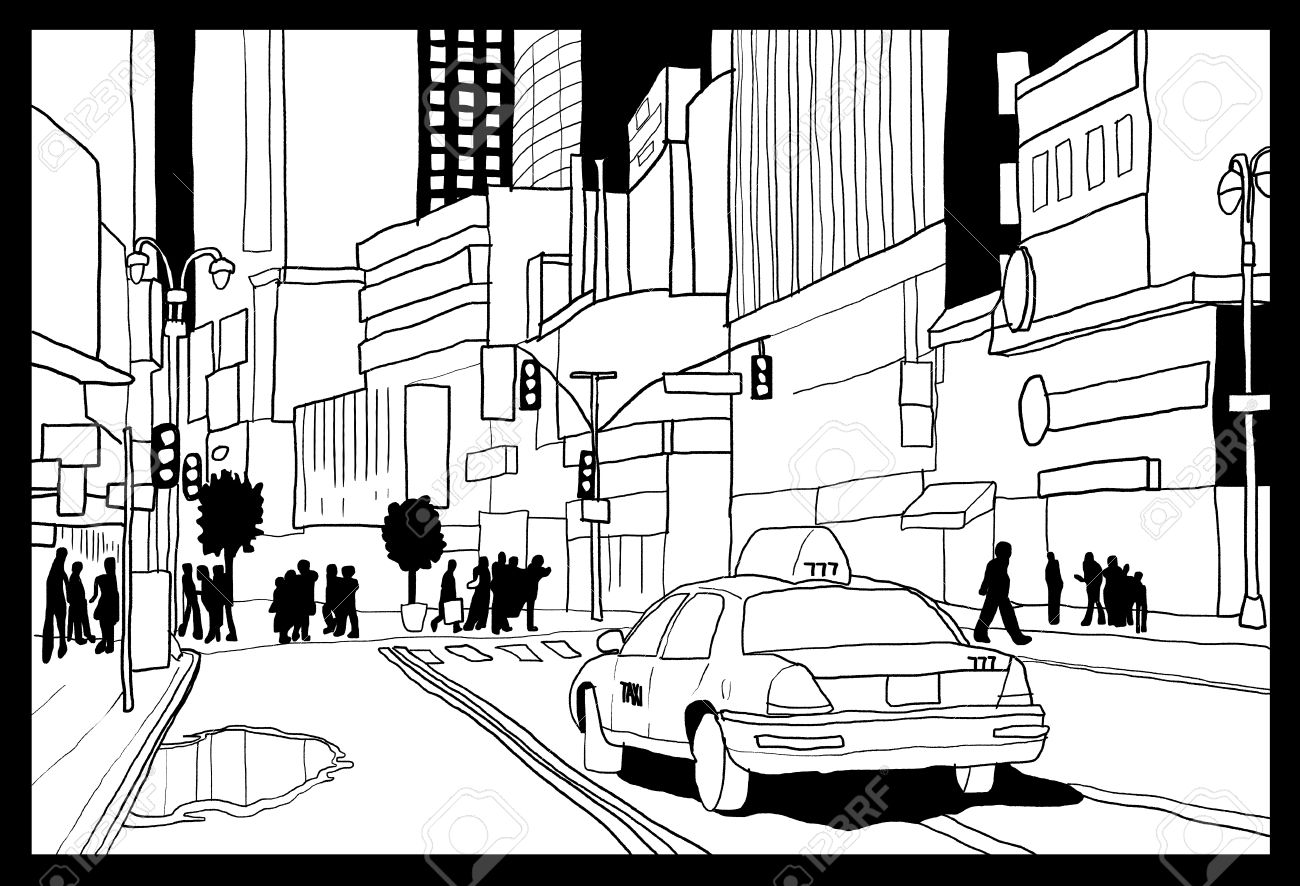 1300x886 Times Square Sketch
