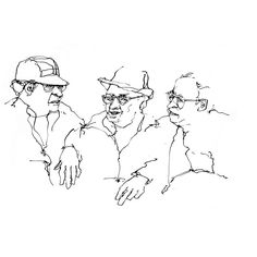 236x236 Washington Square. New York City. Drawing People In Public