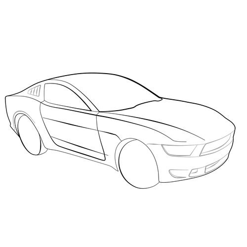 500x500 Car How To Draw 3d Images How To Draw