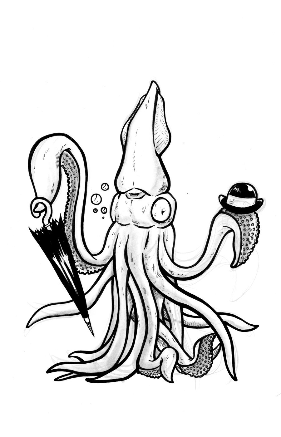 900x1400 Squid Bowler By Artofjoshlyman