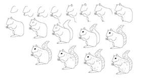 300x159 How To Draw A Squirrel Kids Amp Kids' Stuff Squirrel
