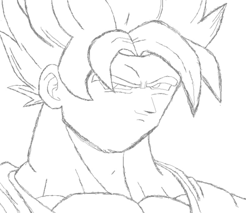 500x433 Dragon Ball Z Images How To Draw Goku Ssj In Ms Paint Step 2 Hd