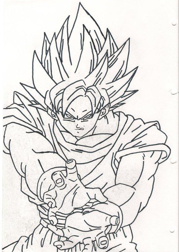 600x844 Ssj Goku Kamehameha By Sparten69r