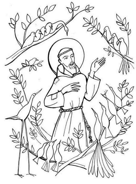 St Francis Drawing