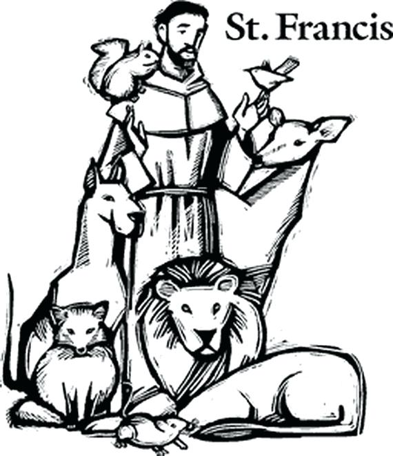 570x661 St Francis Coloring Page Click To See Printable Version Of St
