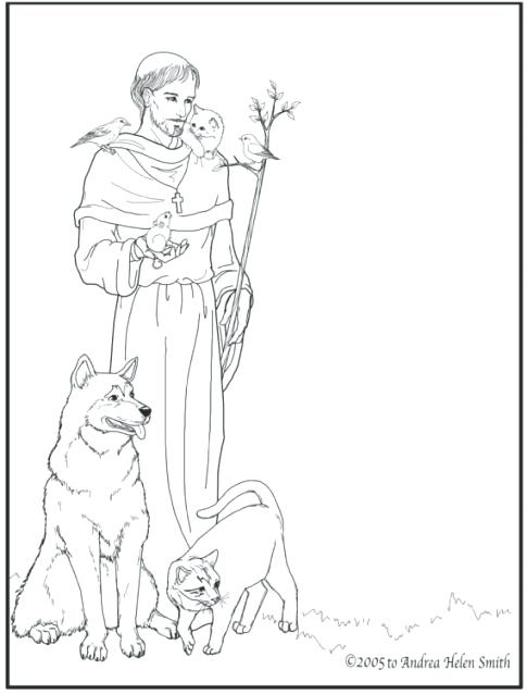 485x638 St Francis Of Assisi Coloring Pages Related Posts Catholic Saints