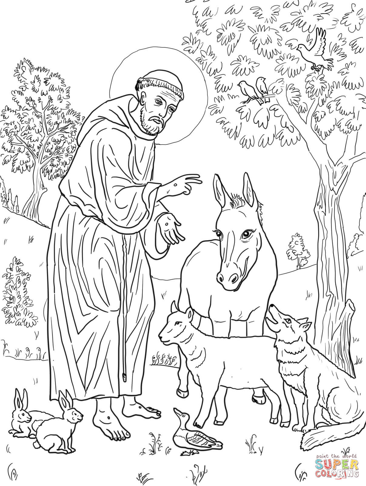 1207x1600 St Francis Of Assisi Coloring Pages