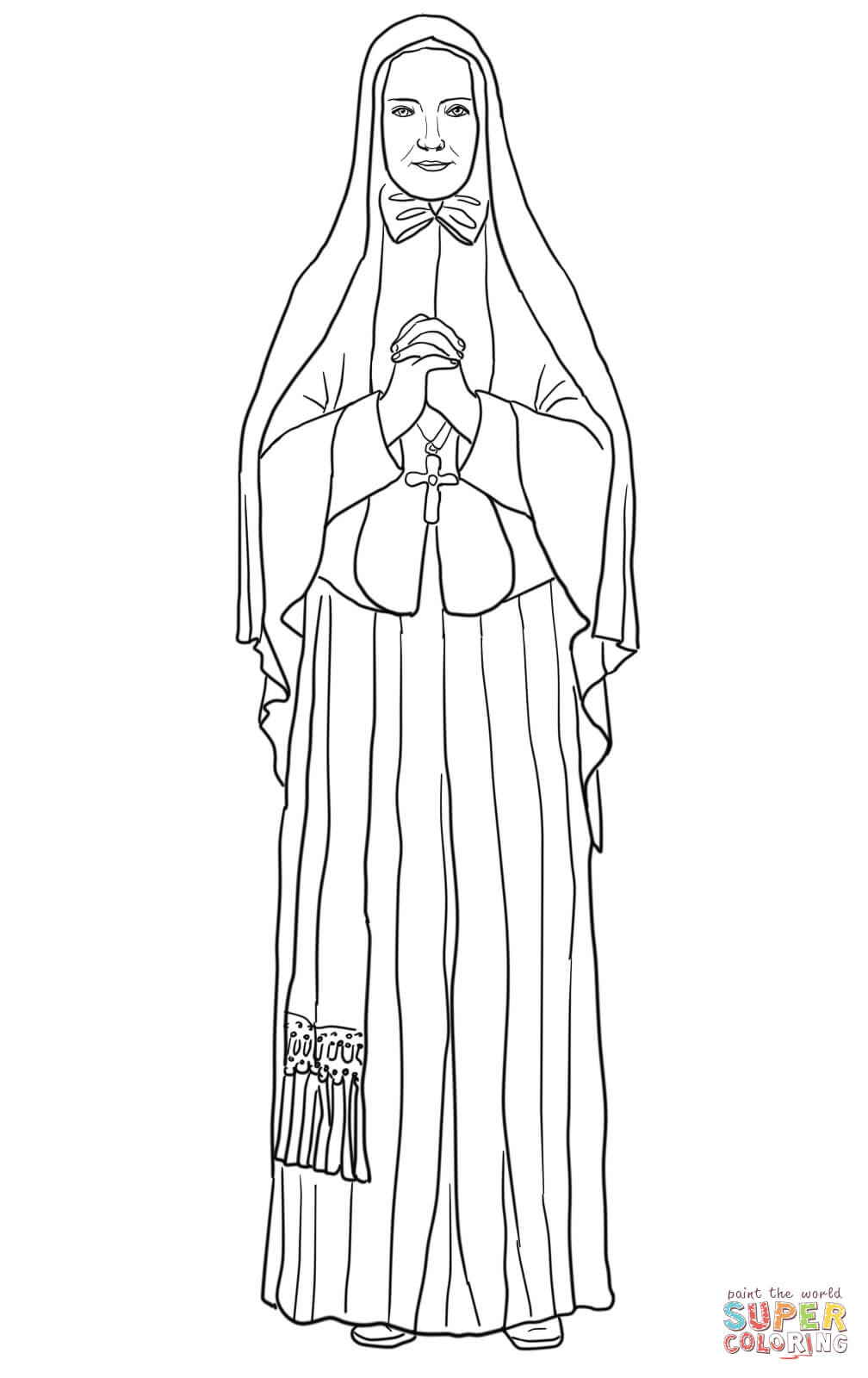 1008x1600 St. Frances Xavier Cabrini Coloring Page Free Printable Coloring
