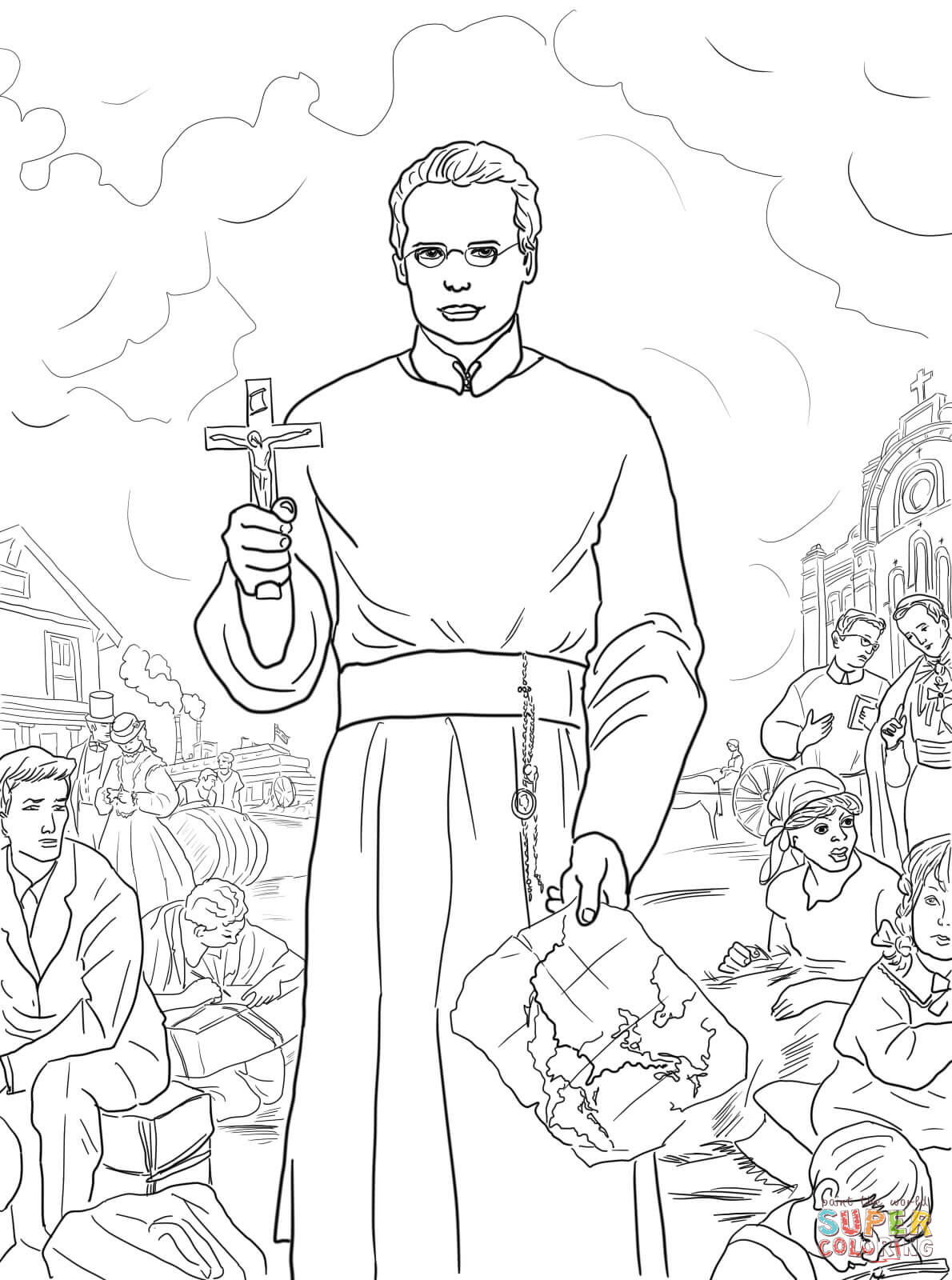 1190x1600 St. Francis Xavier Coloring Page Free Printable Coloring Pages