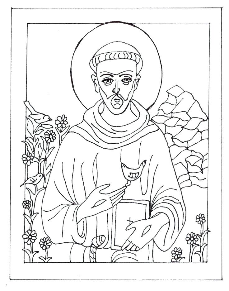 736x934 This Is St Francis Of Assisi Coloring Page Pictures St Of Coloring