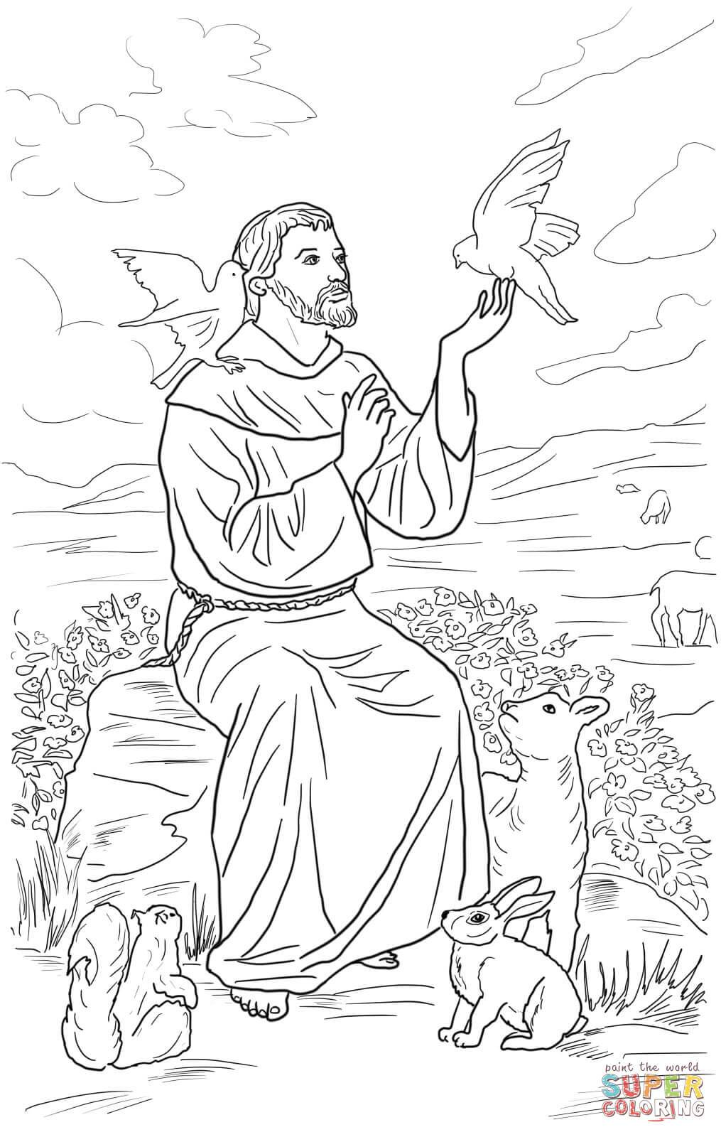 1015x1600 St Francis Of Assisi Coloring Page Coloring Page For Kids