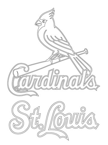 360x480 St. Louis Cardinals Logo Coloring Page Free Printable Coloring Pages