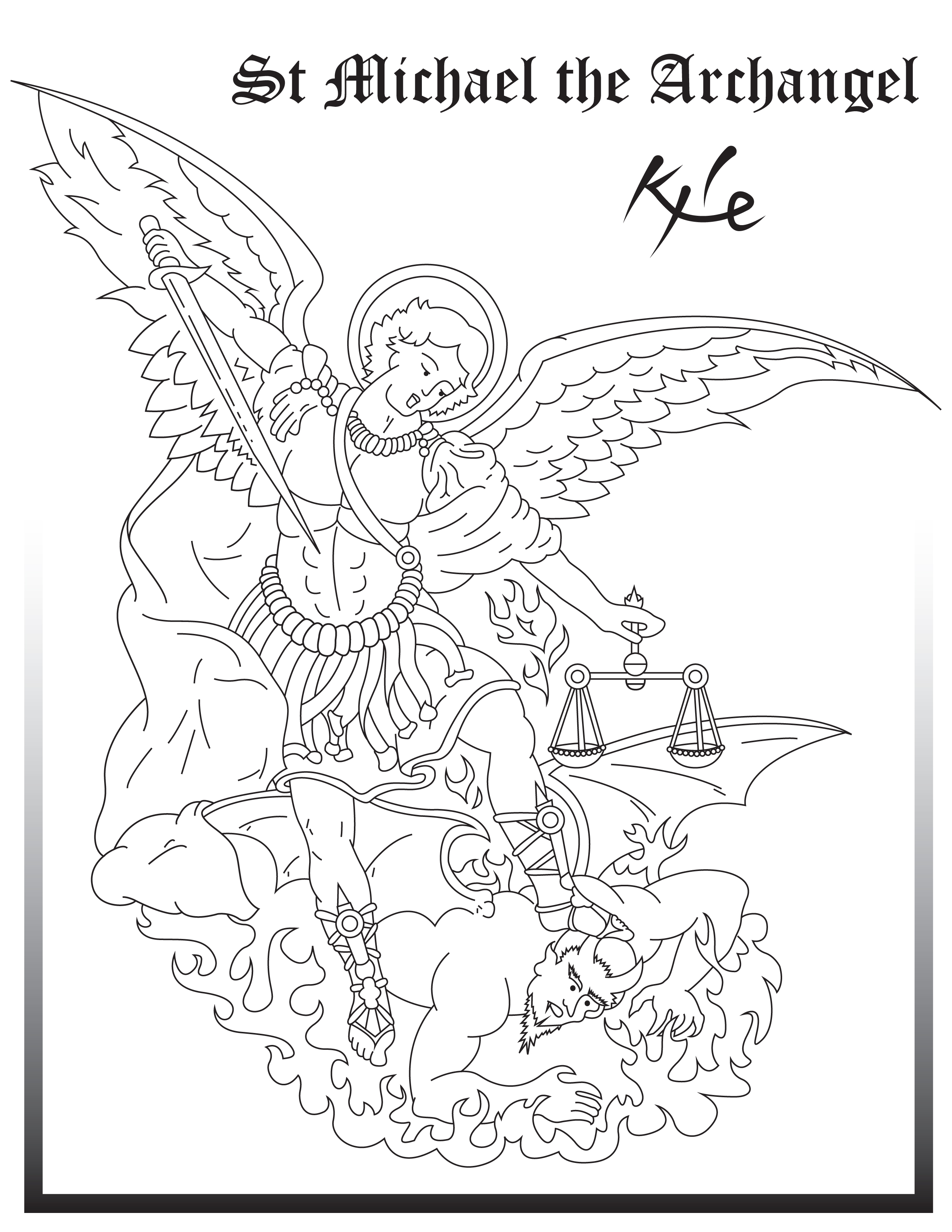 St Michael The Archangel Drawing at GetDrawings.com | Free for ...