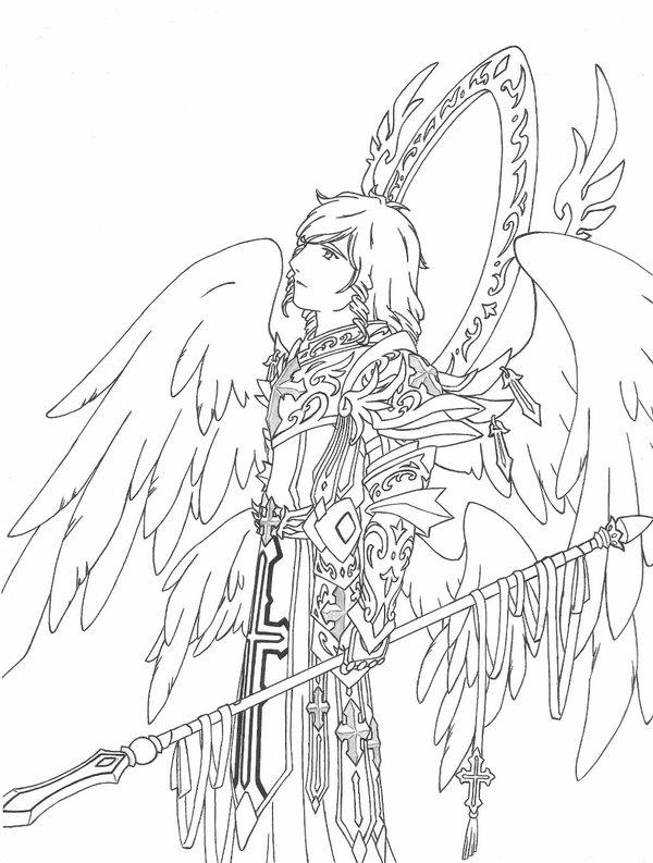 600x793 Saint Michael Archangel By Chronos89