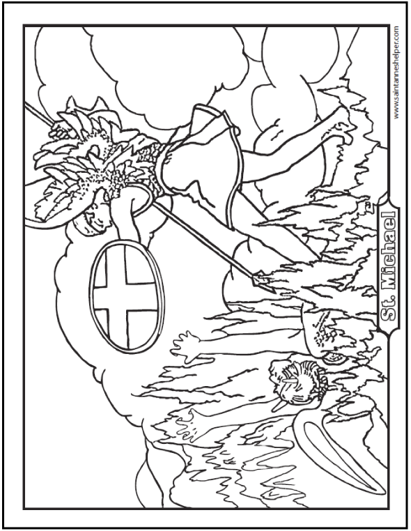 590x762 Saint Michael Prayer And Coloring Page