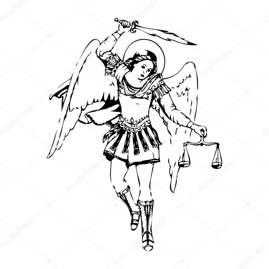1024x1024 Saint Archangel Michael Stock Vector I.petrovic
