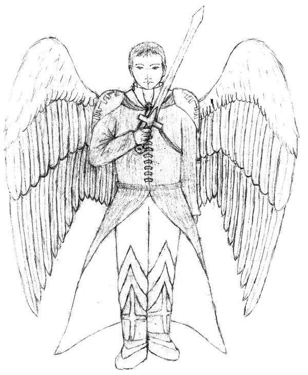 600x729 St. Michael Sketch By Blackinuyaju