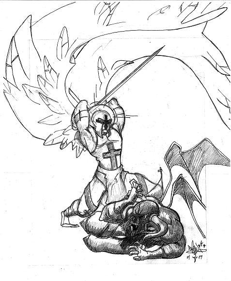 477x578 St. Michael The Archangel By Jorge Ariel Martinez