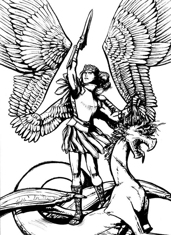 581x800 Archangel Michael By Tiamate