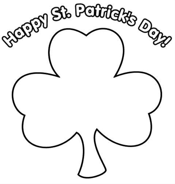 598x629 Happy St Patrick's Day Printable Amp Coloring Book