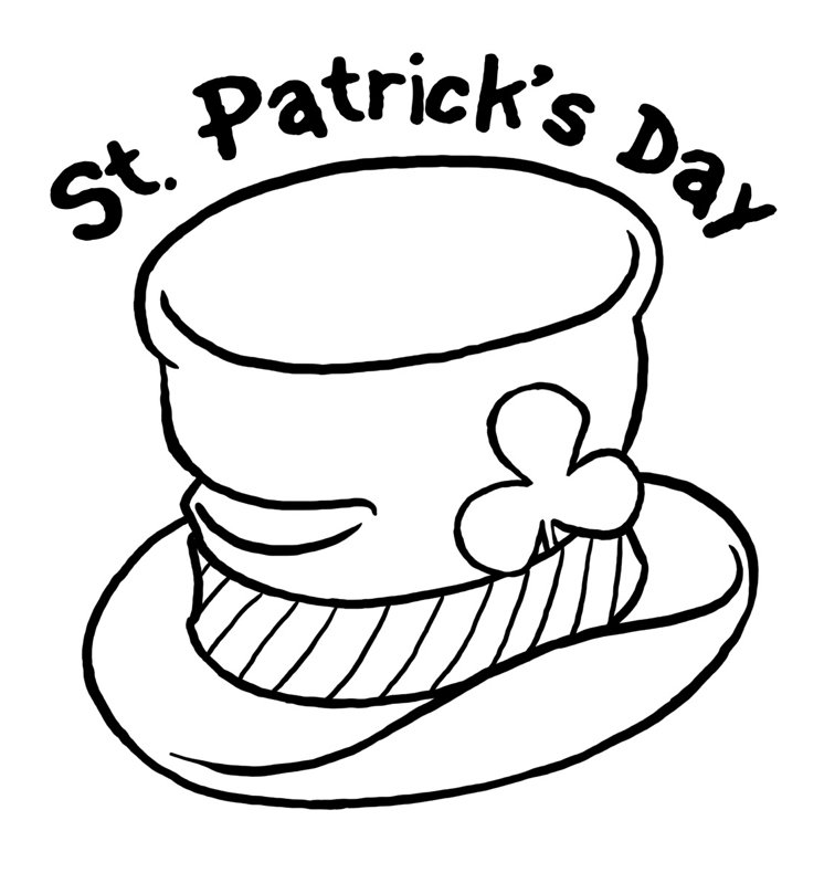 746x790 St Patrick's Day Hat Coloring Page Amp Coloring Book