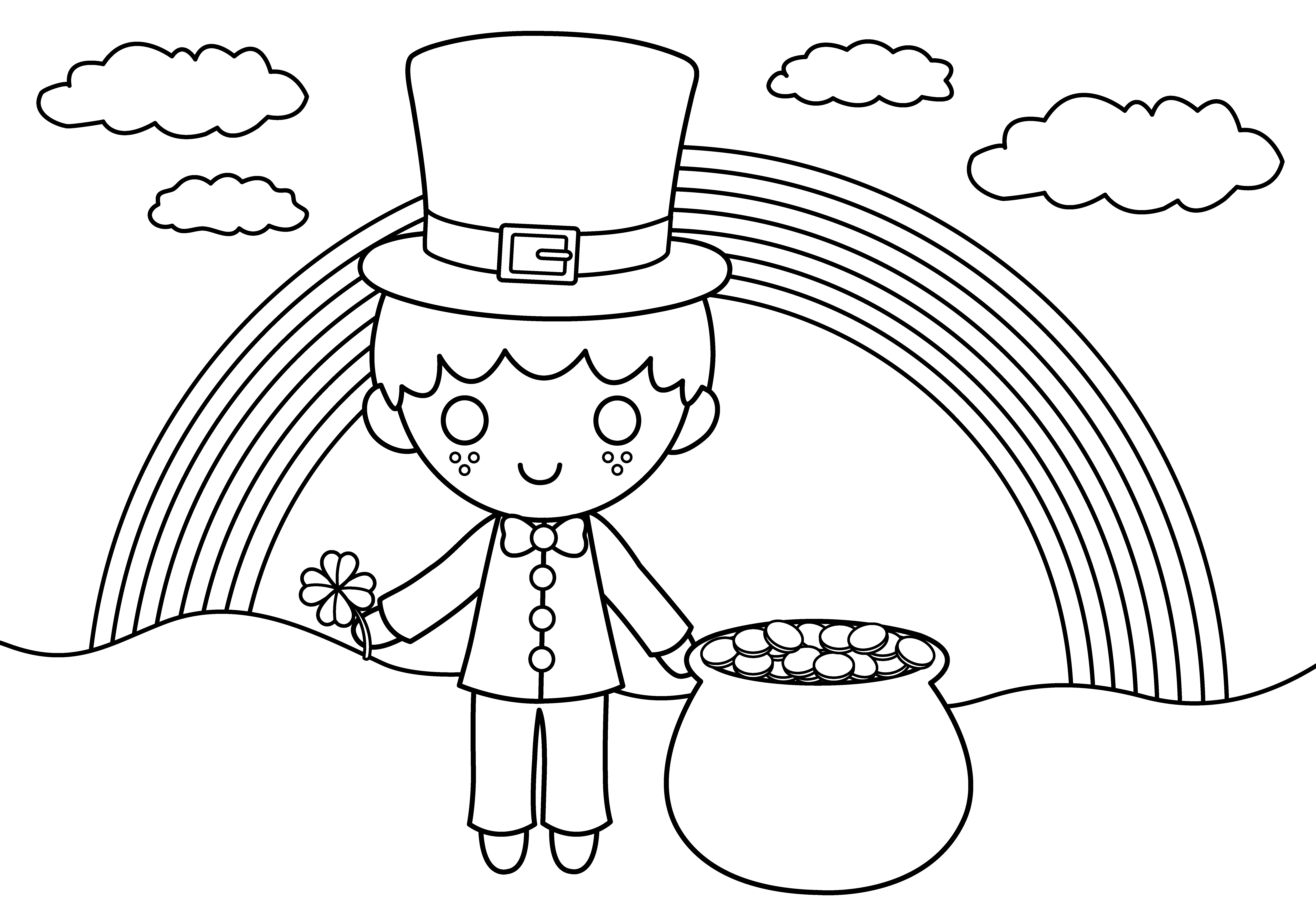 7640x5321 St Patrick Coloring Page St Patrick Coloring Page Cute St Patricks