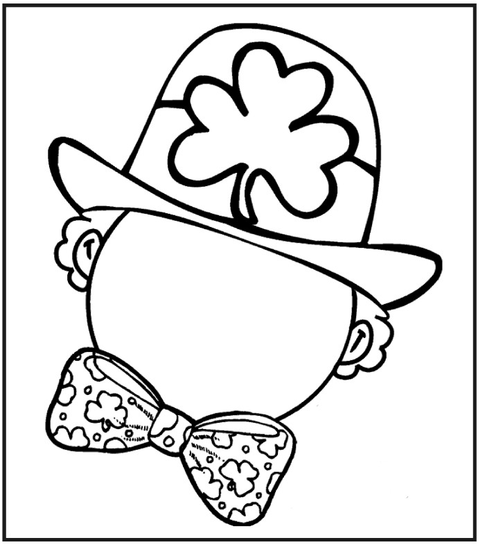 700x788 Coloring Page St Patricks Day Draw Face Leprechaun