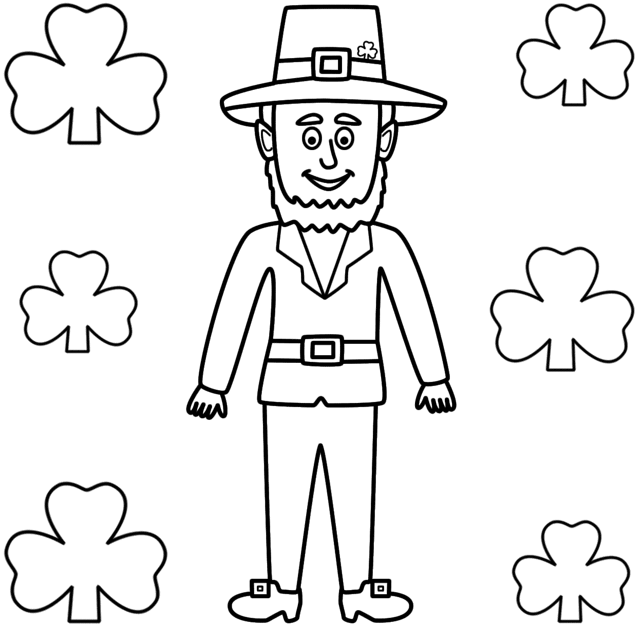1250x1216 Coloring Pages For St Patricks Day