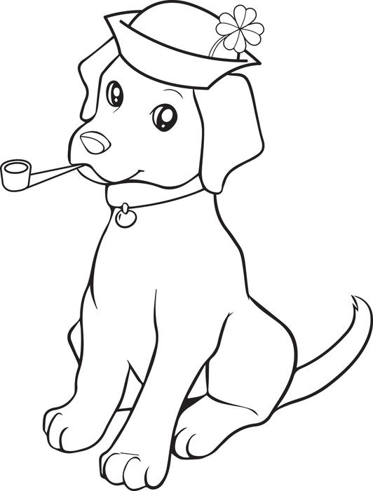 532x700 Free, Printable St. Patrick#39s Day Puppy Dog Coloring Page For Kids