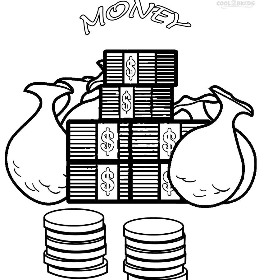 850x900 Piggy Bank Coin Coloring Page Many Interesting Free Printable Kids