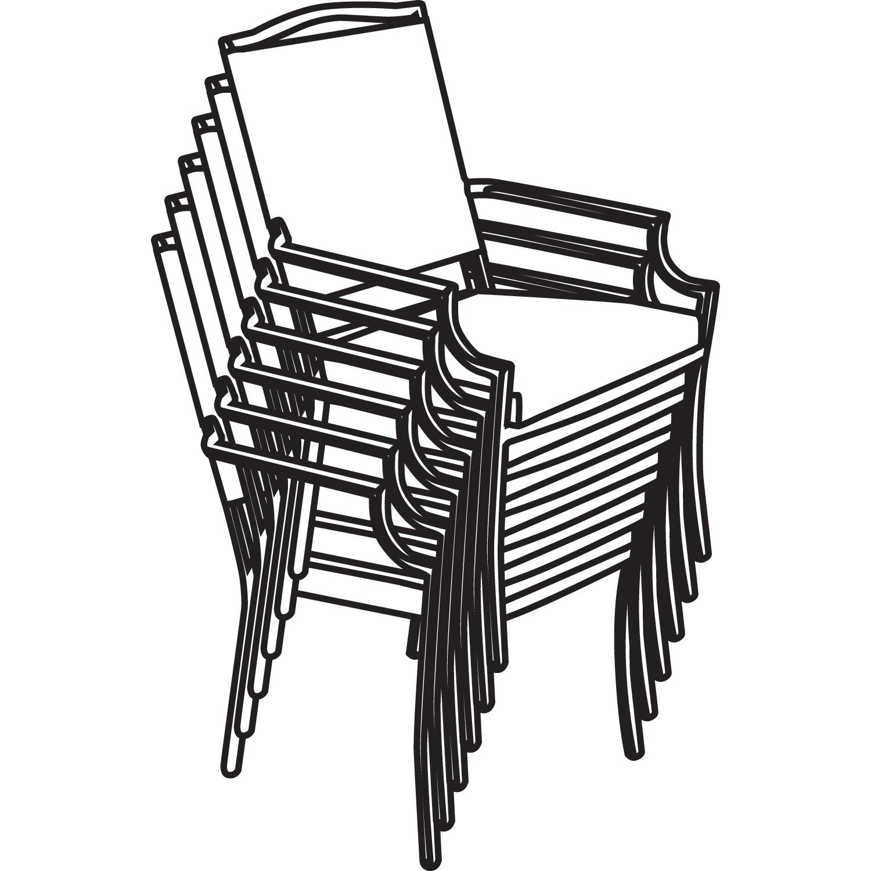 1500x1500 Classic Accessories Terrazzo Stackable Patio Chair