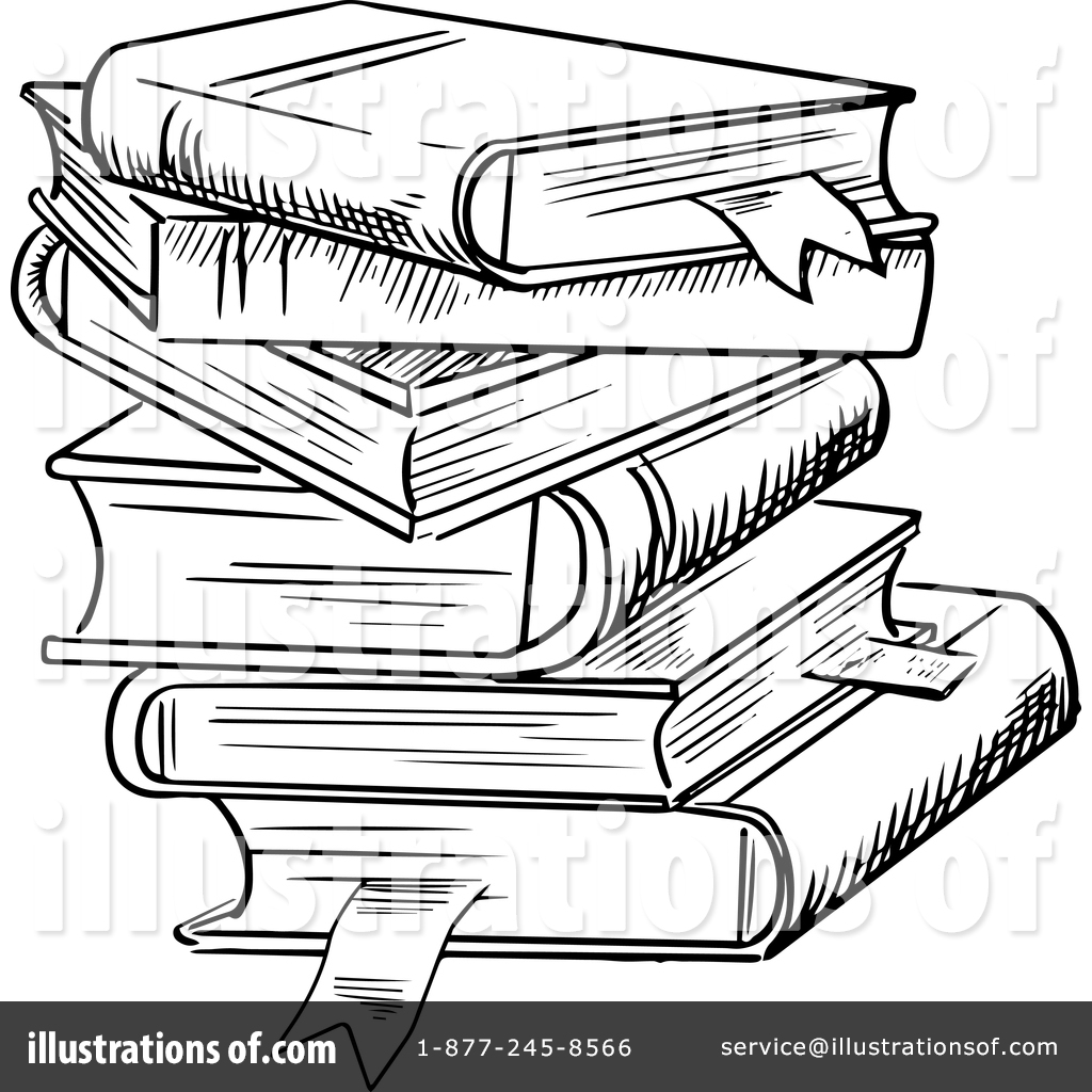 Stacked Books Drawing At Getdrawings Com Free For