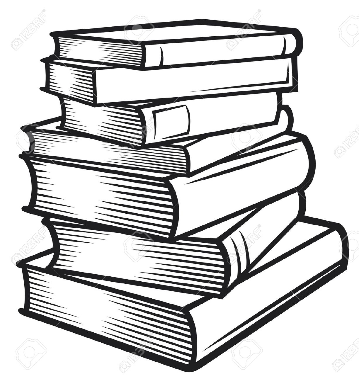 1225x1300 Stack Of Books Drawing Stack Of Books Black And White Clipart Kid