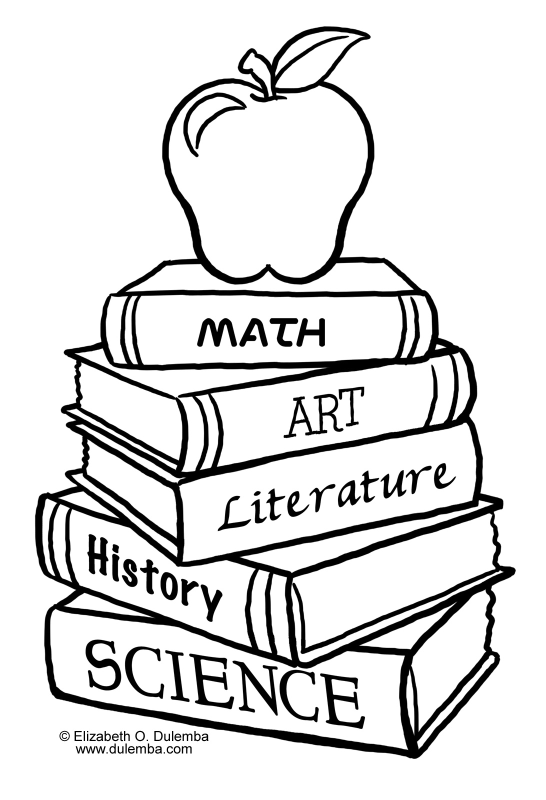 Stacked Books Drawing at GetDrawings   Free download