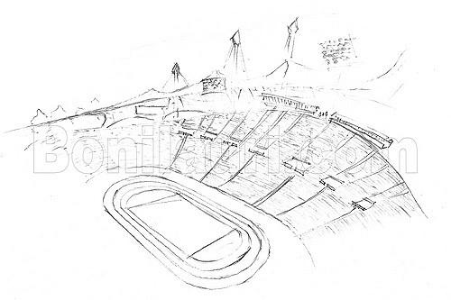 500x333 Germany, Olympic Stadium In Munich Olimpic Stadium,