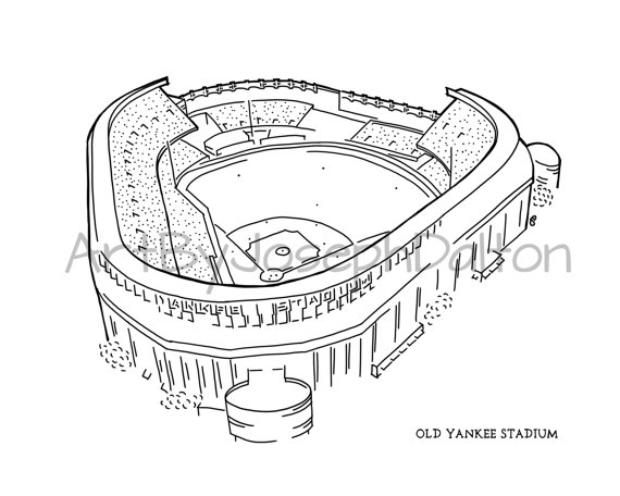 570x456 New York Old Yankee Stadium Ii Print