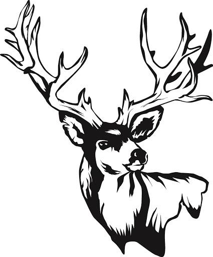 425x512 Deer Skull Drawing Clipart Panda