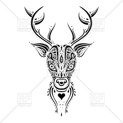 400x400 Deer Head