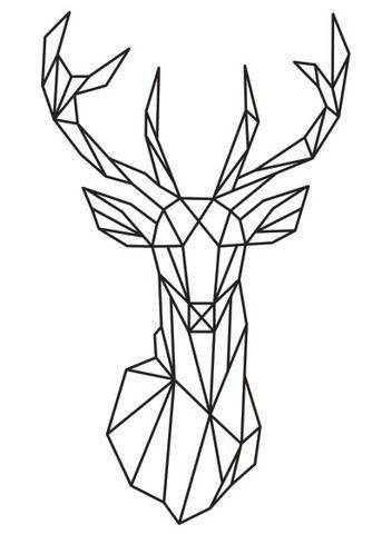 343x480 Drawn Deer Line Art