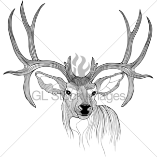 325x325 Abstract Deer Head Tribal Tattoo Gl Stock Images