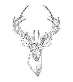 236x265 Pin By Barbara On Coloring Deer Tattoo, Doodles
