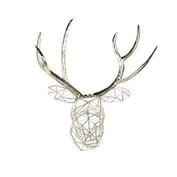 355x355 Kate And Laurel Milty Geometric Hanging Deer Head