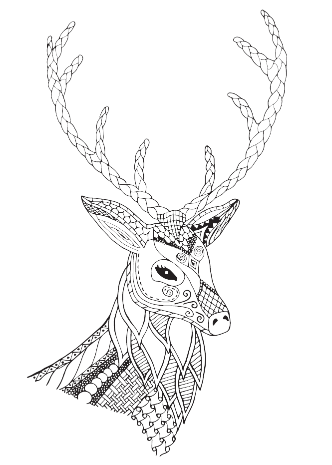 665x931 Crafting Trends 2018 The Stag Head + Free Download