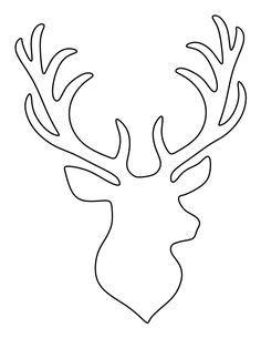 236x305 Stag Head Silhouette Clip Art