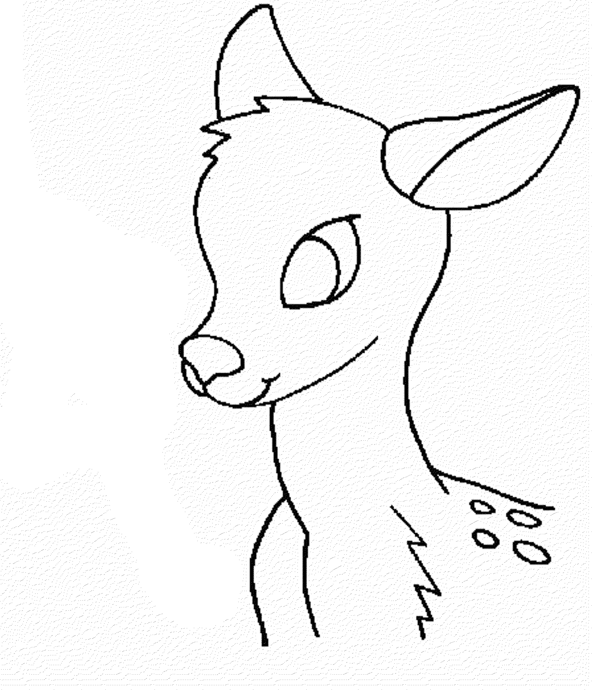 2000x2330 Deer Face Coloring Pages Deer Head Coloring Pages