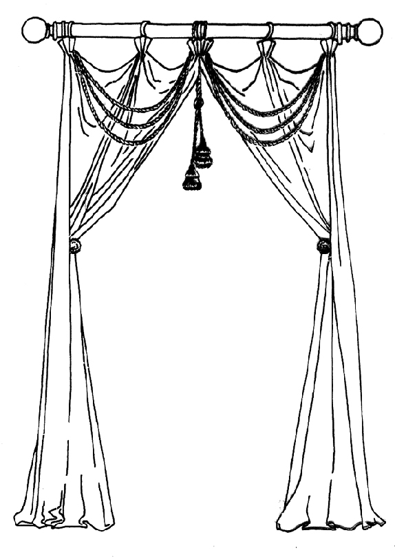 574x809 Curtain Drawing ~ Decorate The House With Beautiful Curtains