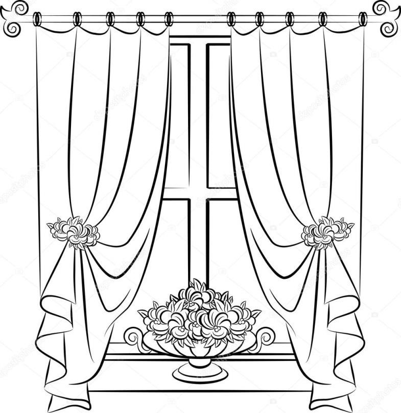 785x809 Curtains Theater Stock Photo Stage Curtain Drawing Related