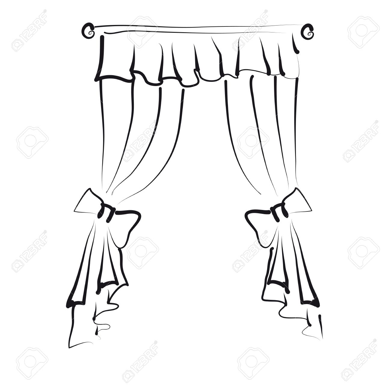 1300x1300 Curtains Royalty Free Cliparts, Vectors, And Stock Illustration